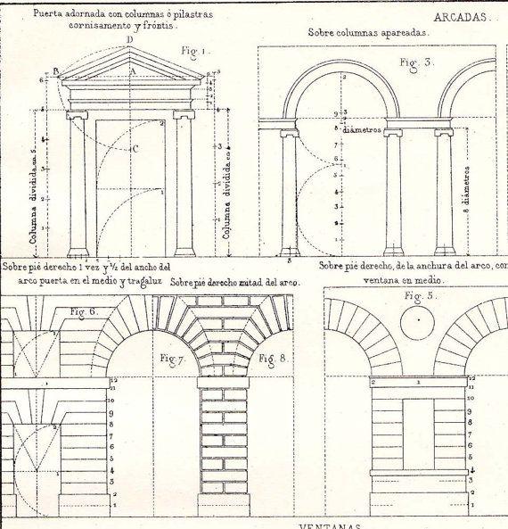 Doors Arcades Windows Architectural Drawing Vignola by