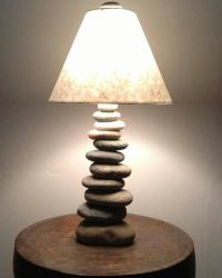 Cool lamp made of stones found in NH... | Reclaimed to ...