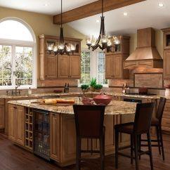 Shenandoah Kitchen Cabinets Ceiling Lights Ideas Cabinetry Island In Maple Mocha Mckinley Door