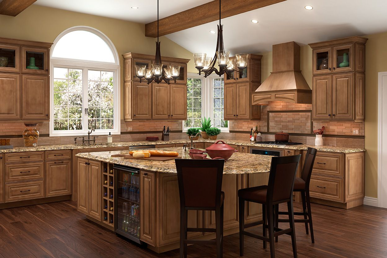 shenandoah kitchen cabinets cabinet refacing ideas cabinetry island in maple mocha mckinley door