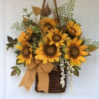 Fall+Wreath+for+Front+Door-Sunflower+by+ReginasGarden+on ...
