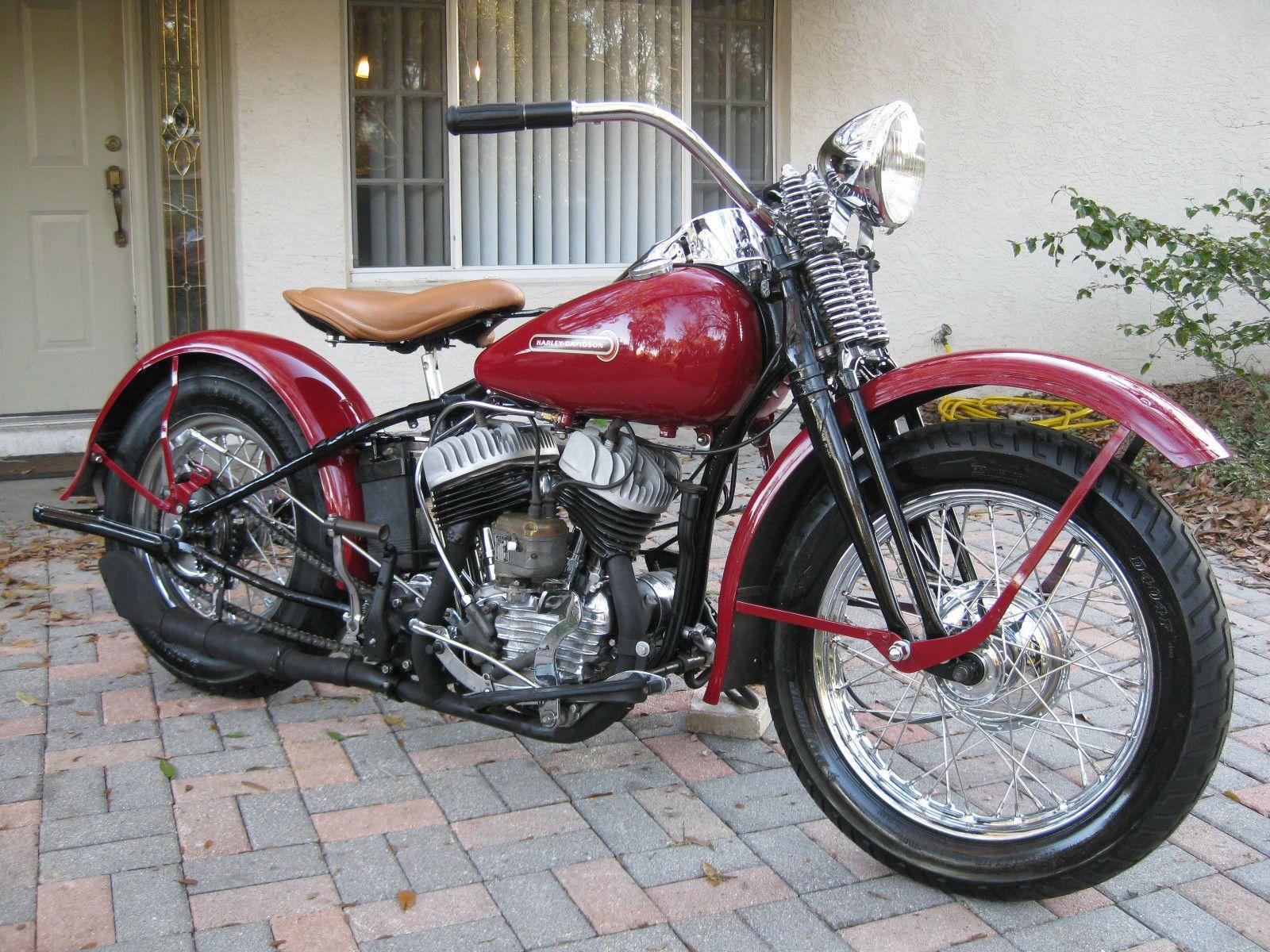 of 1940 Harley Davidson UL Flathead Motorcycle by Hank