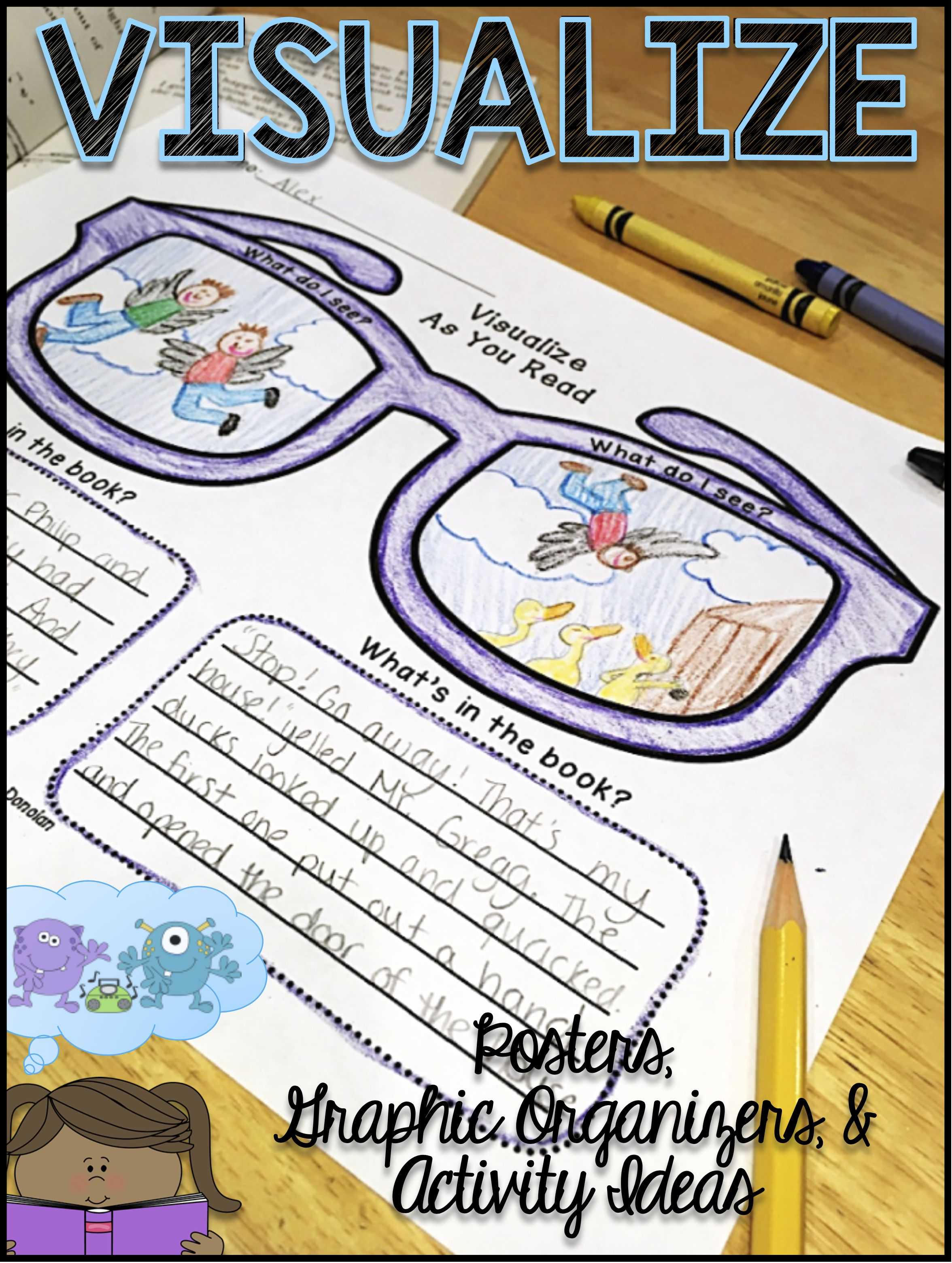 Visualizing Reading Strategy Poster Graphic Organizers Amp Activity Ideas