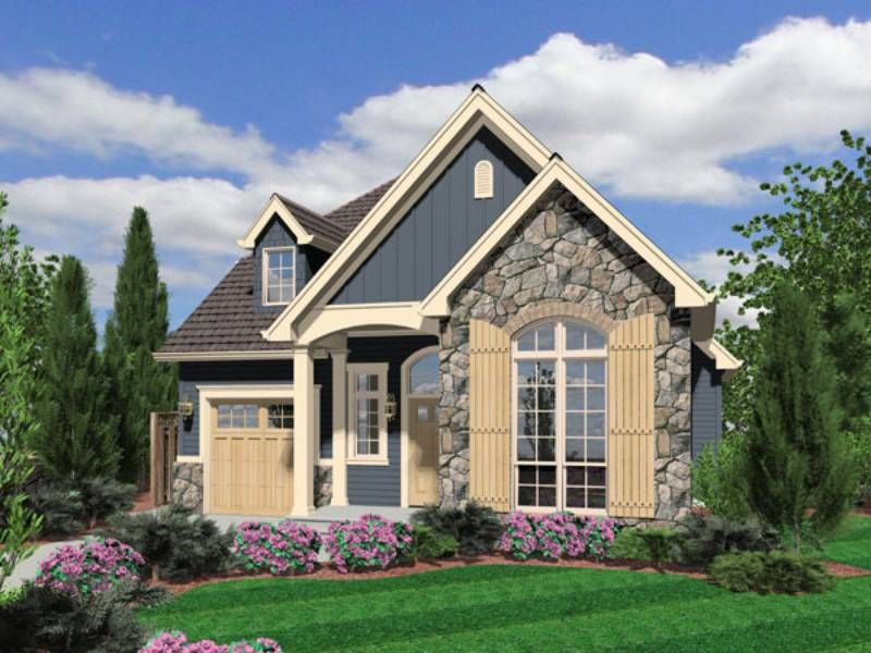 Long Thin Wooden Shutters And Carriage Style Garage Door Poplars