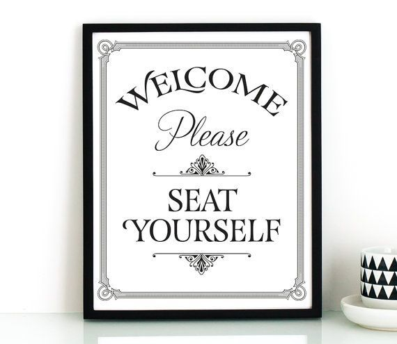 Funny bathroom wall art PRINTABLEPlease seat yourself
