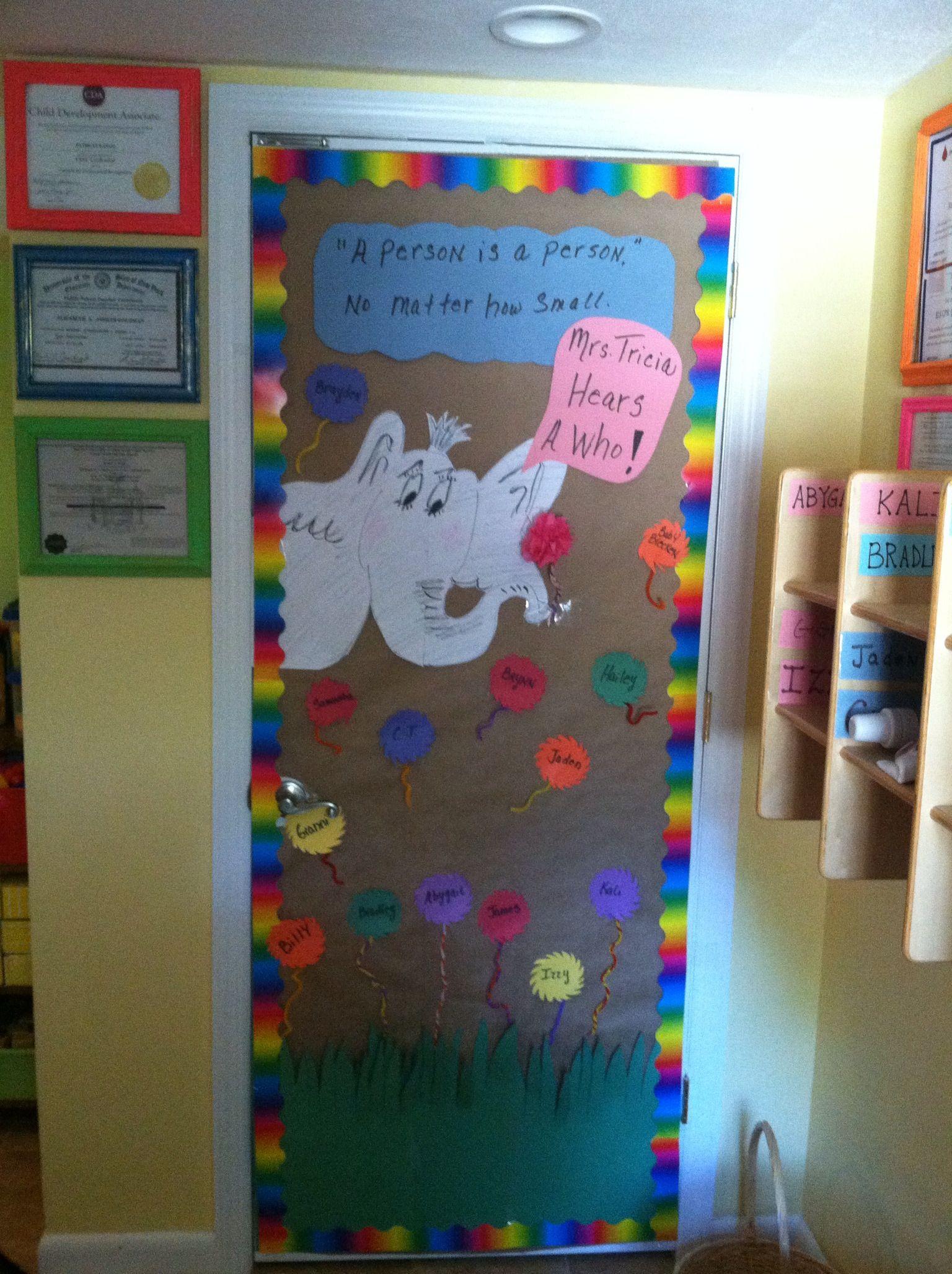 Welcome back to preschool classroom door!!