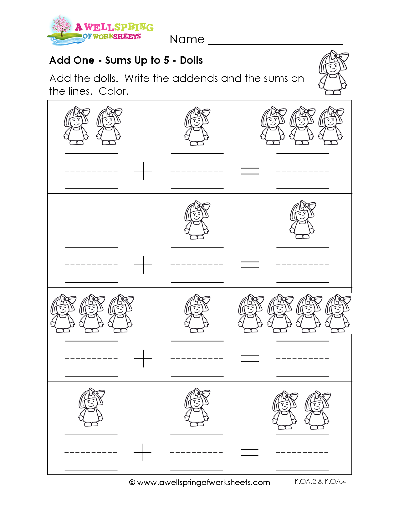 Adding 1 Worksheets