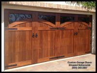 Mediterranean Garage Door Designs in solid wood. This door ...