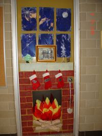 decorating christmas teacher classroom doorway ideas