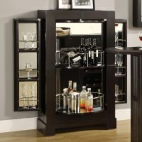 glass cabinet with glass shelves