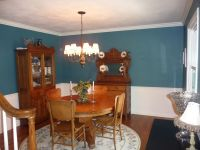 dining room after ; paint color Gliddeon absolutely teal ...