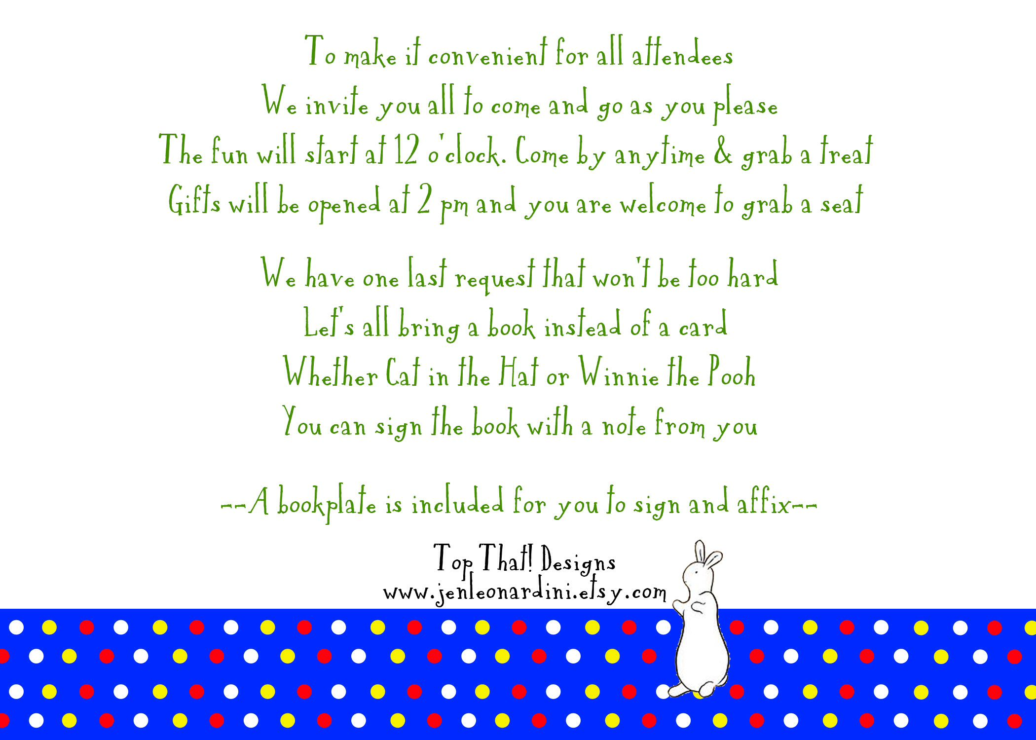 Baby Shower Invitation Poem Open House Wording Back Of Invitation
