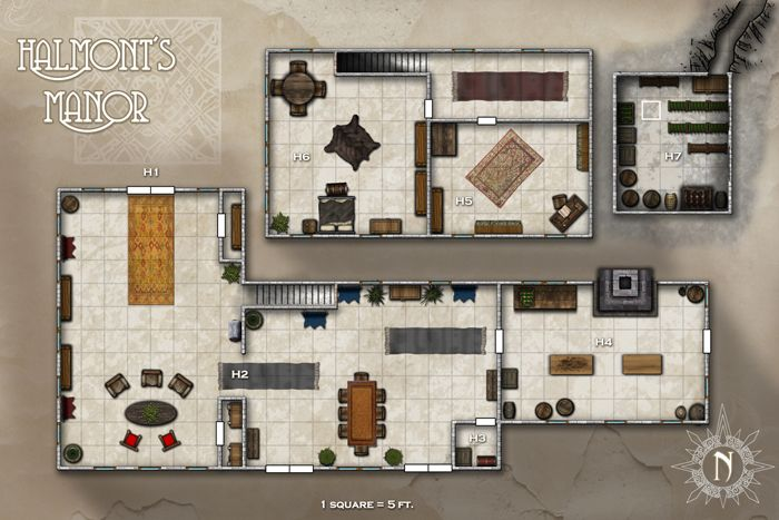 Pathfinder Society Mansion Map