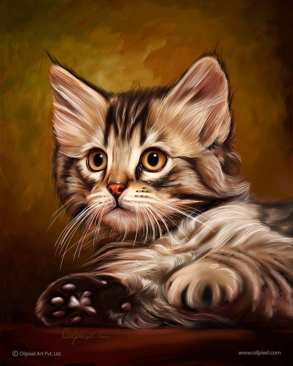 AnimalPet Digital Portrait Painting on Pinterest  Animal