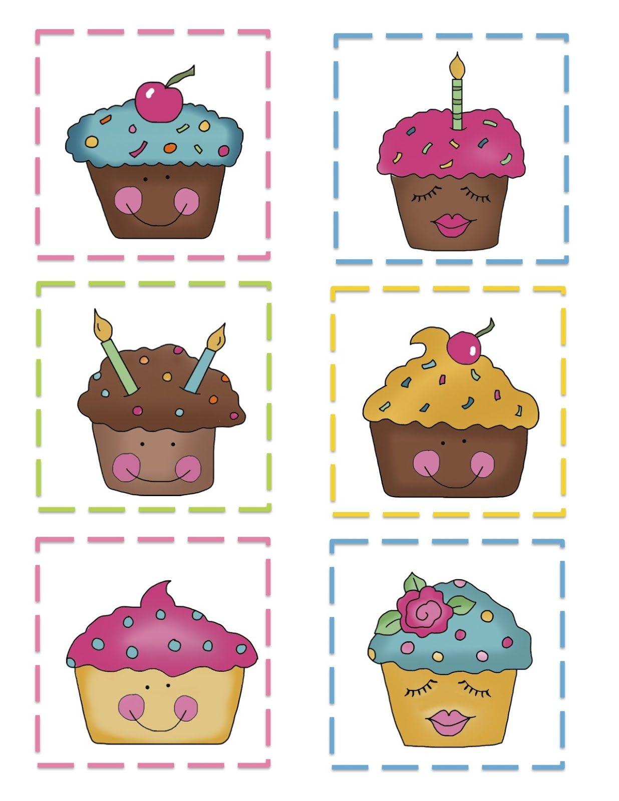 Preschool Printables Cupcake Pattern Cards