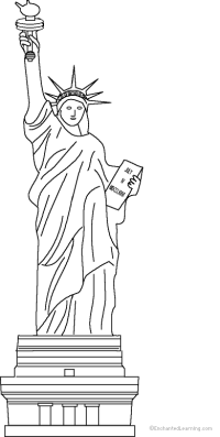 statue of liberty coloring pages | Statue of Liberty | vbs ...