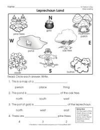Reading a Map Worksheet (Easy and free to click and print