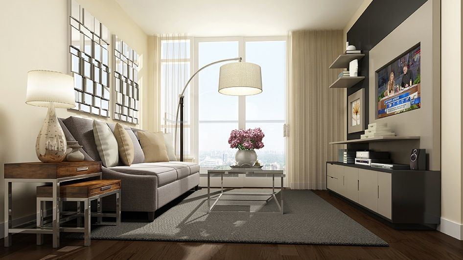 Small Condo Living Room Interior Design Pinterest Rooms