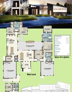 Architectural designs modern house plan ly has an upper level in law or guest suite complete with  bedroom living room and kitchen stairs that also rh pinterest