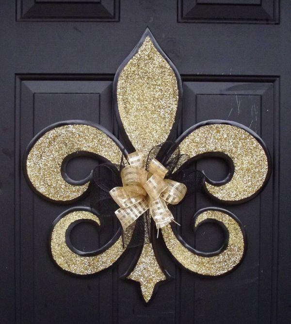 Saints Fleur De Lis Door Hanger