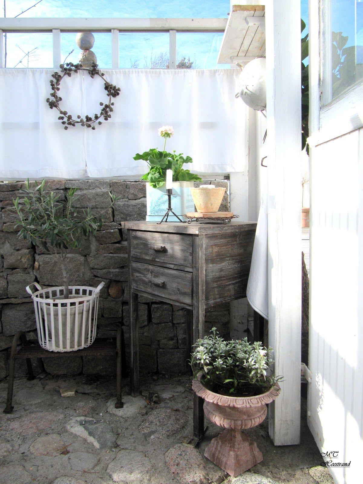 Inside Gazebo Outside Patio Garden Whitewashed Cottage Chippy