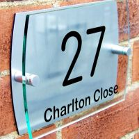 Modern house number plaque door sign street road name