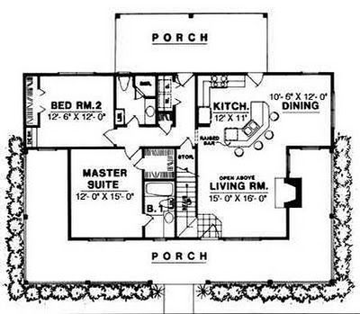 Plan 7410RD Porches Galore House Design And Small Houses