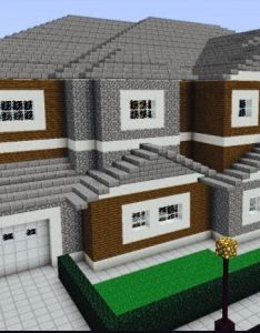 This is just  modern house basically with rooms and nice garage there are guest bedroom master bed kitchenan attica game roomand tv also pin by victoria leonor on minecraft pinterest rh