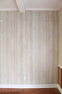 how to install faux wood paneling | Log wall, Perfectly ...