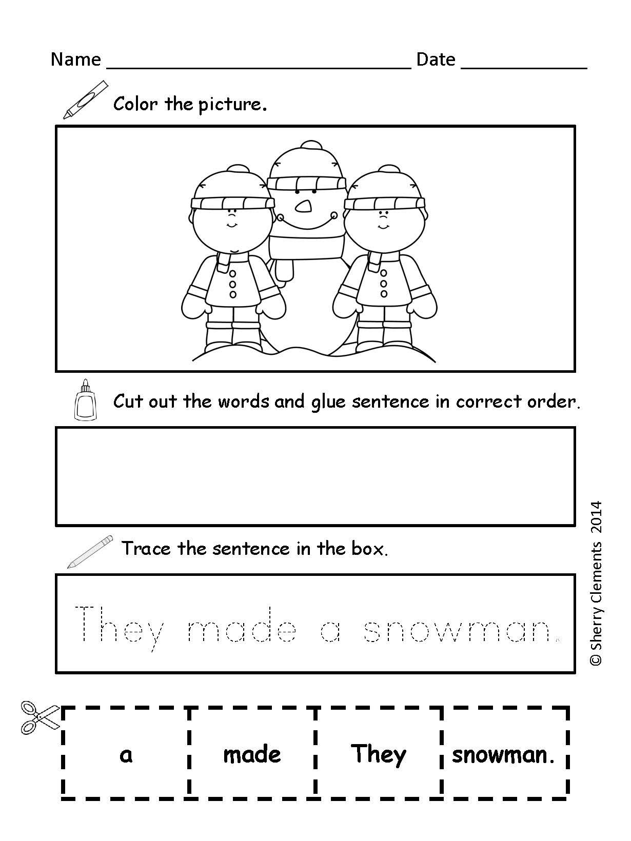 Scrambled Sentences January