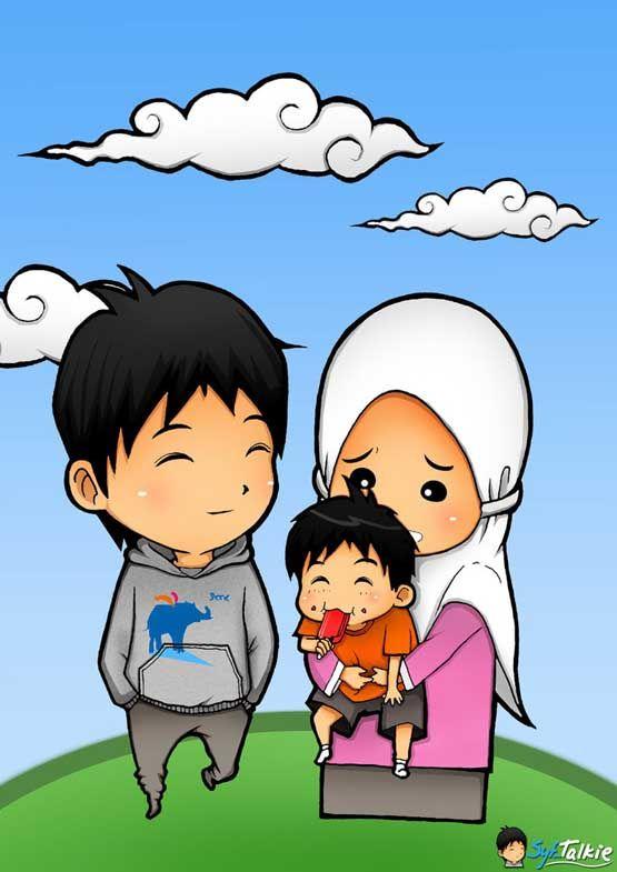Gambar Animasi Kartun Islami Lucu  nisa  Pinterest