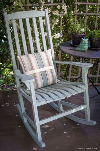 DIY Vintage Painted Rocking Chairs | Chalk paint tutorial ...