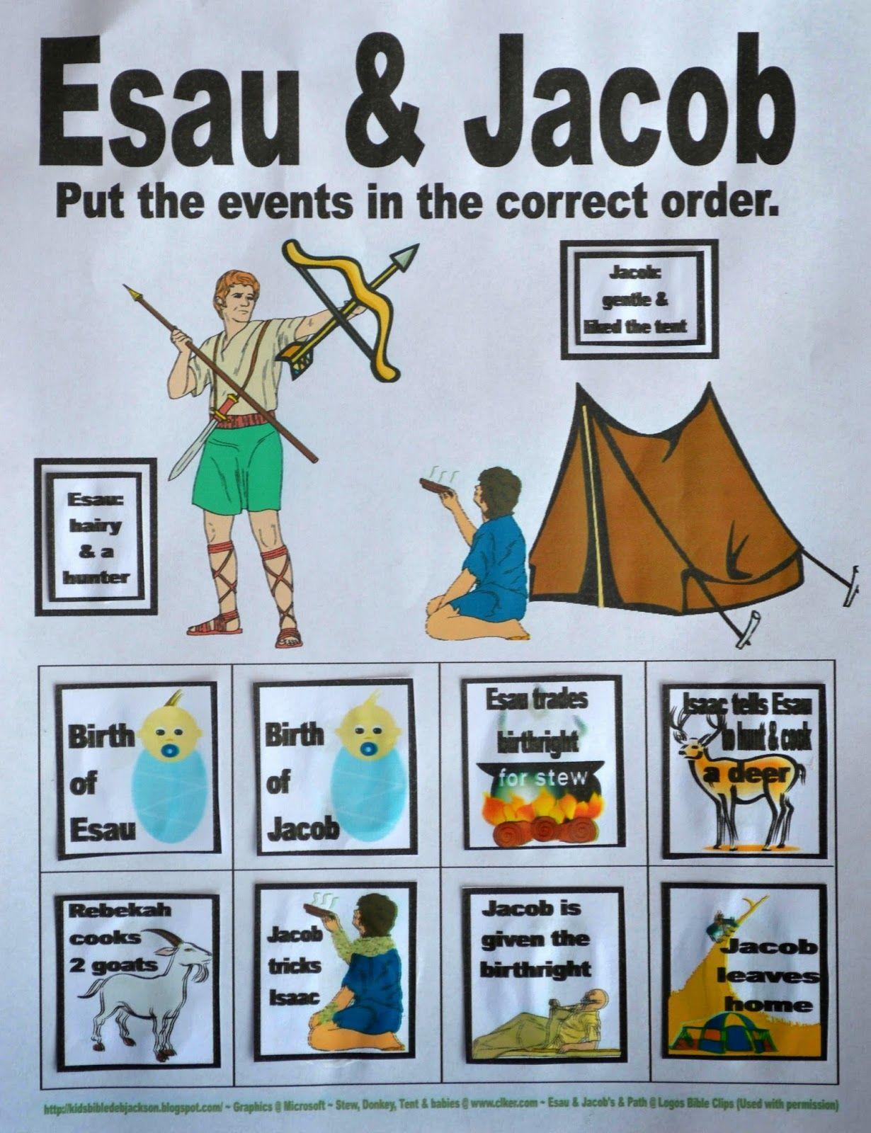 Bible Fun For Kids Genesis Jacob Amp Esau