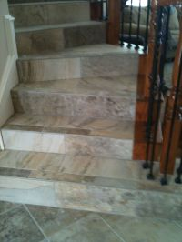 Porcelain tile on stairs | Tile & Natural Stone - FLOHR ...