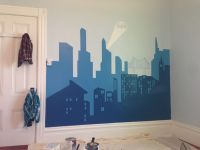 Superhero Cityscape Wall Mural | www.imgkid.com - The ...