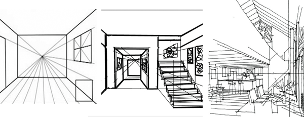 Drawing for interior design project http://www