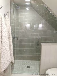 subway tile on slanted wall - Google Search | Bathroom ...