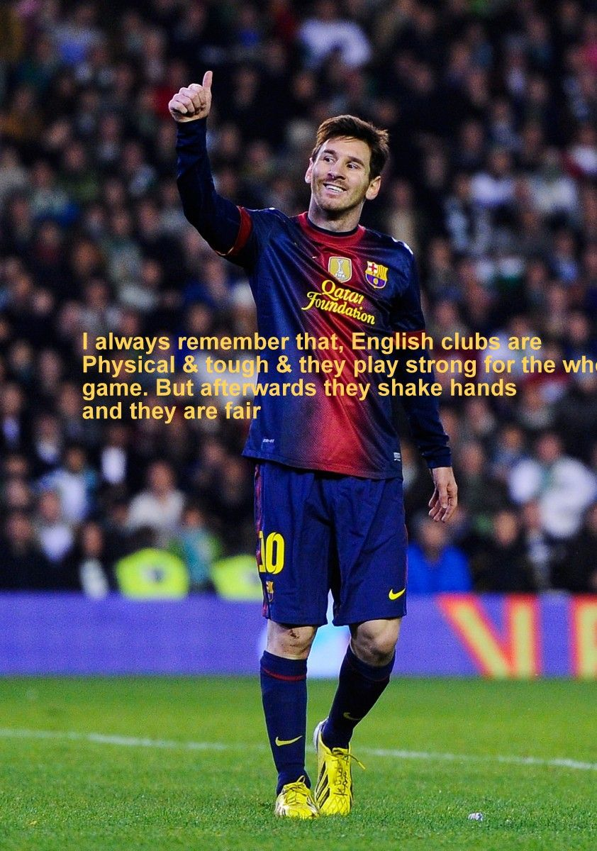 lionel messi quotes on football with wallpapers | football