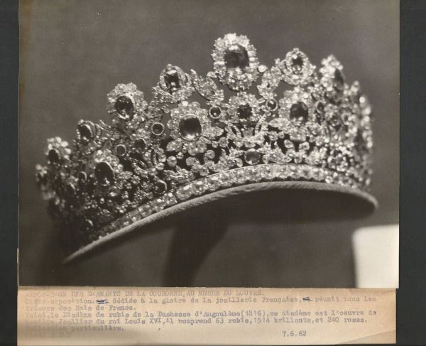 1962 Of Ruby And Diamond Tiara French Crown Jewels Displayed