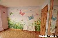 mural+kids+rooms   Girls+butterfly+room+mural+by ...