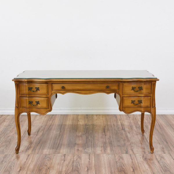 French Provincial Desk Featured In Solid Wood