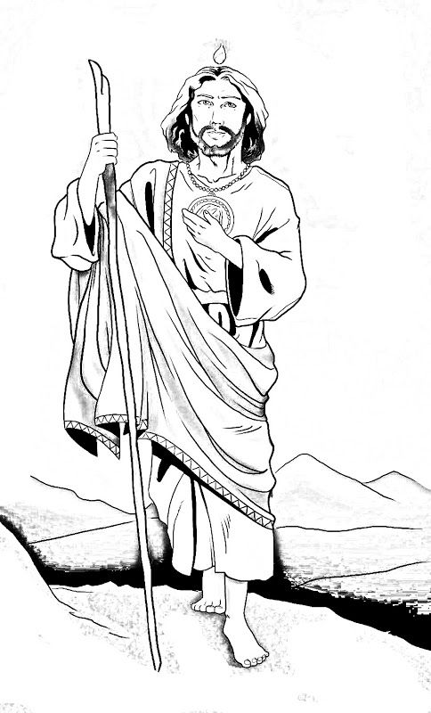 Saint Jude Thaddeus coloring page # 2. Feast day is
