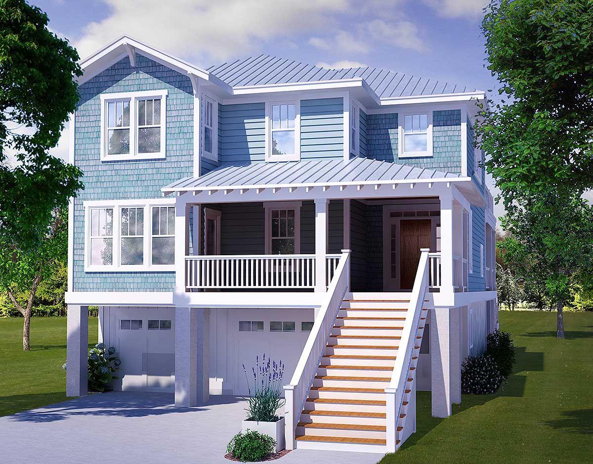 Plan 15009NC Four Bedroom Beach House Plan  House plans