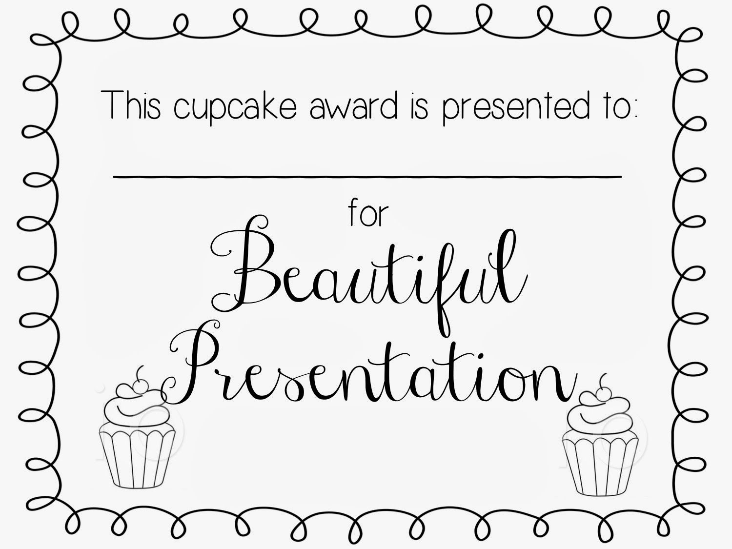 Cupcake Wars Yw Activity Printable Certificates