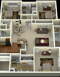 bedroom with balconies also pinterest claudiagabg apartamento cuartos       rh