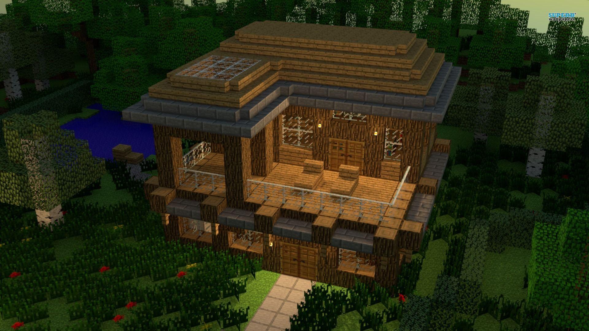 Simple Minecraft Modern House Blueprints 20521 HD Wallpapers