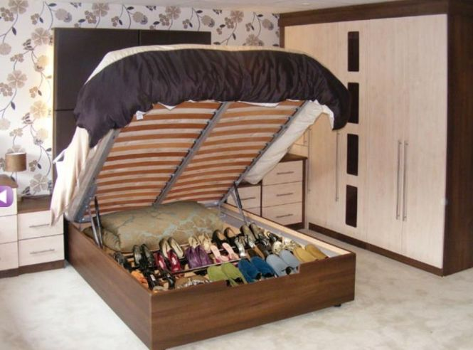 We Need This Hinged Bed Frame With Shoe Storage