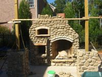 Outdoor fireplace pizza oven combo. | El rancho ...