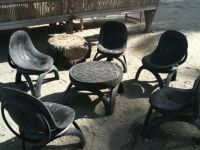 Table and chairs made out of tires | Project Ideas ...