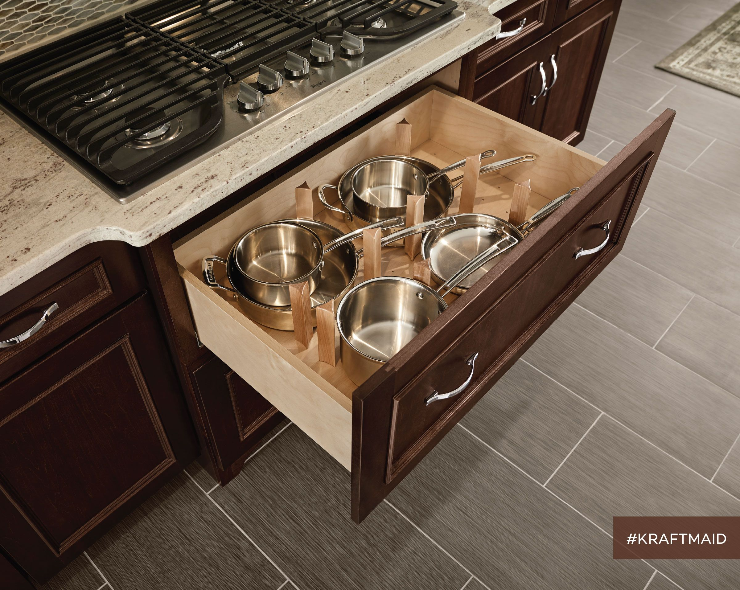 kitchen drawer organizer sink spray hose the scoop top fits under cooktop and provides